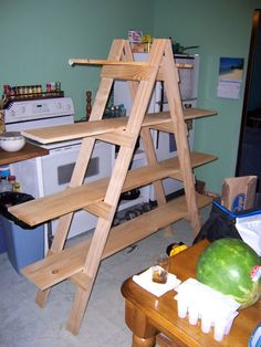 how to build display shelves   Make Your Own Ladder Shelf for your Craft Show Display   Mama Made ...: