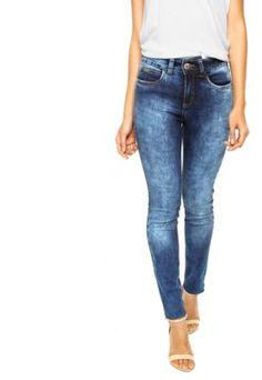 Calça Jeans Colcci Skinny Cintura Alta Bia Azul                                                                                                                                                                                 Mais