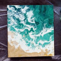 Ocean waves and beach acrylic pouring Acrylic Pouring Art, Acrylic Art, Glaciers Melting, Minimalist Painting, Fluid Acrylics, Pour Painting, Ocean Waves, Alcohol, My Arts