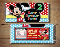Black Chevron Mickey Mouse Invitation by ThePrintableOccasion