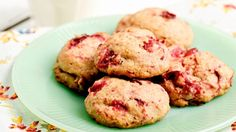 Biscuits canneberges Cookie Desserts, Cookie Recipes, Cranberry Cookies, Cranberry Dessert, Biscuit Cookies, Muffins, Clean Eating, Nutrition, Snacks