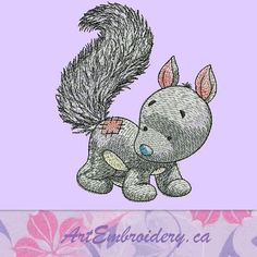 """Squirrel - machine embroidery design for a Babies and Children of series """"Old Toy"""""""