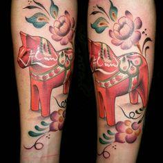 Dalahorse/dalahäst tattoo!