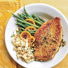 The only thing better than this dish's bold flavor -- a mix of lemon, Dijon-style mustard, and capers -- is that the chicken and green beans cook together in one pot: http://www.bhg.com/recipes/chicken/30-minutes-less/quick-easy-chicken-dinner-recipes/?socsrc=bhgpin032114chickenwithcapers&page=21