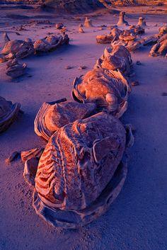 Dinosaur Eggs, Bisti Badlands, New Mexico; photo by Igor Menaker