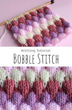 Knit Bobble Stitch Stitch Patterns, Knitting Patterns, Crochet Patterns, Knitting Ideas, Free Crochet, Knit Crochet, Crochet Owls, Chrochet, Bobble Stitch Crochet