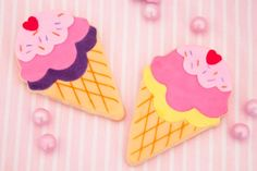 Little Wish Parties | Summer Ice Cream Party cookies  | https://littlewishparties.com
