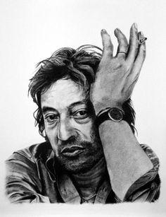 ARitz - Dessinatrice au Fusain, Pastel sec, Pierre noire et Crayon Gomme - Serge Gainsbourg