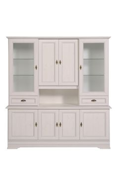 Featuring an elegant design which is sure to suit both classic and contemporary styles, this display cabinet is finished in a white tone and has ample storage space for your crockery and cookware or photographs and accents. 2 Drawer Dresser, China Display, Love Your Home, Sewing Rooms, Kitchen Colors, Kitchen Ideas, Home Remodeling, Storage Spaces, Cabinets