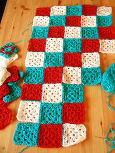 crochet and in red and aqua=love