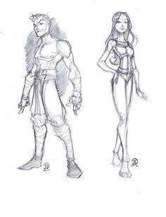 Guy and Girl sketch by JoeyVazquez on deviantART