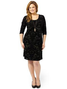 Burnout Dress by Karen Kane, Available in sizes XL,0X/1X/2X and 3X