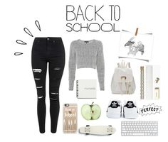 """""""Back to school nr.1"""" by louise-w-pedersem on Polyvore featuring rag & bone, Topshop, Casetify, Old Navy, Quiksilver, adidas, Kate Spade, women's clothing, women's fashion and women"""