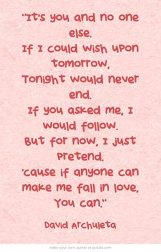 """David Archuleta, """"You Can"""" one of the best wedding songs"""