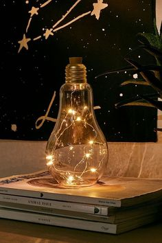 Shop Bulb Firefly Table Lamp at Urban Outfitters today. We carry all the latest styles, colors and brands for you to choose from right here. Diy Wand, Globe String Lights, Bright Homes, Rustic Lamps, Rustic Decor, Bedroom Lamps, Bedroom Ideas, Cozy Bedroom, Bedroom Lighting