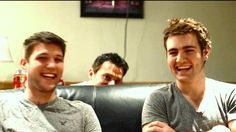 Ryan hiding behind the couch during an interview; I cracked up laughing at this video! These guys are amazing.