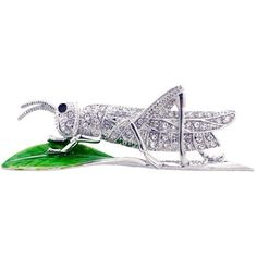 Crystal Grasshopper Insect Pin Brooch Fantasyard. $11.59. Other color available. Gift box available for an additional fee. Please check out through gift-wrap option. Exquisitely detailed designer style. Save 42% Off!