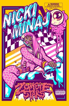 NICKI MINAJ X ZOMBIE STARS by Nicolo Nimor, via Behance