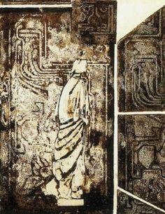 Ország Lili Távozó x 44 cm) című alkotásának jellemzői - Kieselbach Vintage World Maps, Abstract Painting, Painting, Art, Abstract, Vintage, Prints