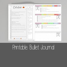 Printable Bullet Journal Pages A5 US Letter by ScatteredPapers1
