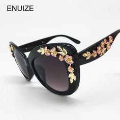 Fashion Flower Sunglasses Women Brand Designer Luxury Ladies Cat Eye Sun  Glasses For Women Eyewear Glasses De Sol Feminino be482e5f73