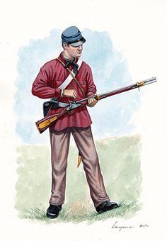 Confederate; 5th Virginia Infantry 1861.By Sascha Lunyakov