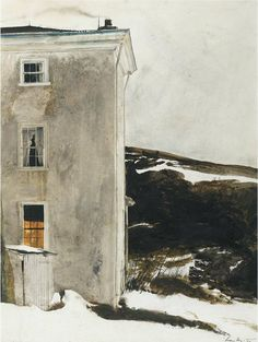 Andrew Wyeth (American, Contemporary Realism, 1917–2009): Dusk, 1978. Watercolor, 60.9 x 45.7 cm (24 x 18 inches). Private Collection. © Andrew Wyeth.