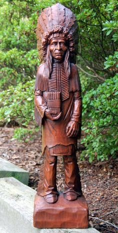 Cigar Store Indian Statue