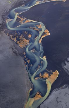 Aerial Photos Iceland Rivers byandre.ru http://andre.ru/php/fullscreen-slideshow.php?name=aerial-iceland-rivers #Aerial_Photography #Rivers #Iceland