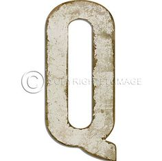 Letter D White Cutout  Vintage Distressed Letter Decor