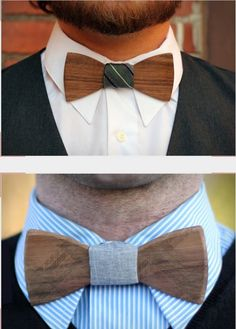 Wooden bow tie.