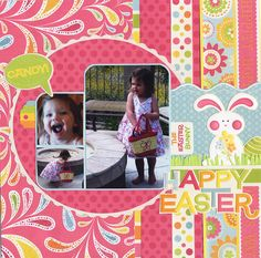 Happy Easter! - Scrapbook.com - #scrapbooking #layouts