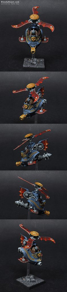 Just another Dwarf Gyrocopter. I think the model looks better with just one propeller. Warhammer Paint, Warhammer Fantasy, Warhammer 40k, Fantasy Dwarf, Sci Fi Miniatures, Old Things, Squats, Crafty, Models