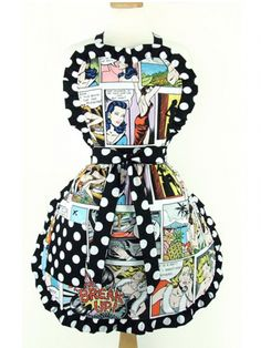 "Women's ""Pinup Comic Strip"" Apron"