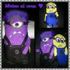 Violet and yellow minions cel cover, Samsung galaxy s3