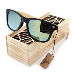 CLASSIC VINTAGE Style POLARIZED SUNGLASSES Matte Tortoise Real Wood Wooden Frame