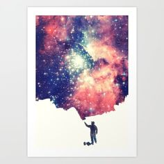 Art Print featuring Painting The Universe by Badbugs_art