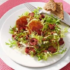 pork, endive-blue cheese salad, low calories, low fat, low cholesterol, low sugars, low carbohydrates, diabetic, WW, SmartPoints, diet, salad, meal, recipe