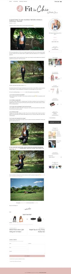 Mattie from Fitischic.com is using on her wonderful blog Front Row Theme  Front Row is a fully customizable and minimalistic Fashion & Lifestyle Wordpress Theme by MunichParis Studio.  2 Column, Dropdown Menu, Instagram Gallery, Subscribe Widget, Styled Comment Section, About Widget, SEO, Responsive, Shopping Widget, Monetization and many more. Visit us at our shop for more Wordpress Themes