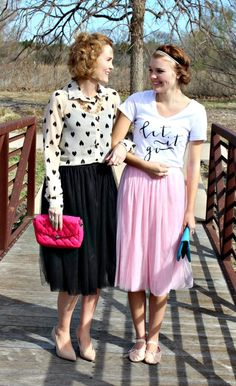 What to Wear with a Tulle Skirt — MotherDaughter Edition