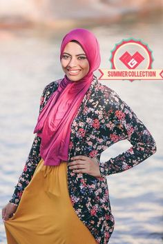 floral cardigan, Eid hijab clothing by prude store http://www.justtrendygirls.com/eid-hijab-clothing-by-prude-store/
