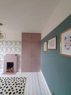 A Dotty Delight- How we created a stylish Girls bedroom on a budget – At Home With The Johnsons My New Room, My Room, Dix Blue, Oval Room Blue, Budget, Girls Bedroom Blue, Blue Bedrooms, Girl Rooms, Teen Bedroom