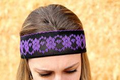 Purple and Black Adult Lace Headband by RuralHaze on Etsy, $3.99