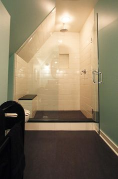 Shower in eaves.... Shower seat