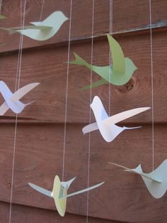 Bird mobile - from Mama - want to make with the kids for Mawlid or baby