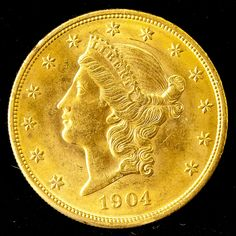 1904 Liberty Head $20 Gold Coin Sold $1,750
