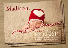 Baby Boy Birth Announcement  Baby Girl Birth