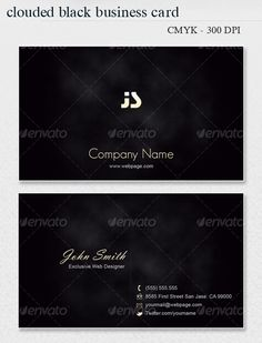Clouded BLACK Business Card
