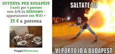 3 NOTTI A BUDAPEST, 4 persone in appartamento dal 19-22 Novembre + volo A/R da Bergamo: 75 € a pesona!