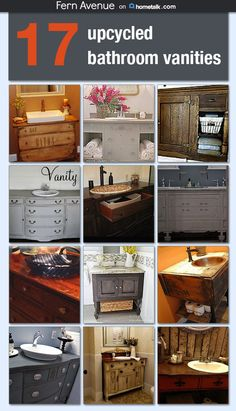 After seeing these bathroom vanity upcycles, I'm ready to start my bathroom makeover NOW! These are stunning!
